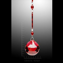 Swarovski Crystals - 30mm Red Crystal Faceted Ball Suncatcher