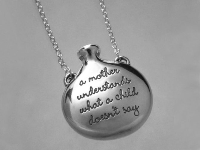 A Mother Understands What a Child Doesn't Say Sterling Silver Necklace