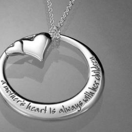 a mothers heart is always with her children necklace in31n
