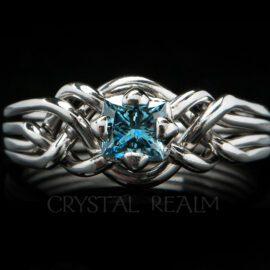 avalon blue diamond puzzle engagement ring1 1