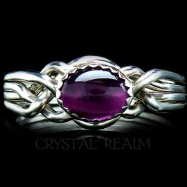 avon oval puzzle ring amethyst