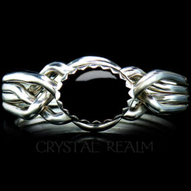 avon oval puzzle ring black onyx
