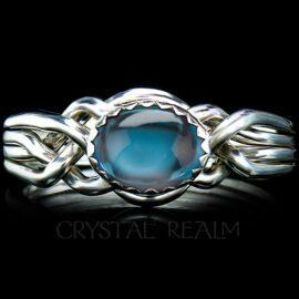 avon oval puzzle ring london blue topaz