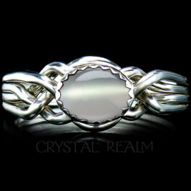 avon oval puzzle ring moonstone
