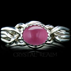 avon oval puzzle ring pink tourmaline