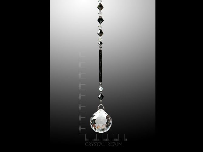 Swarovski Crystals - 20mm Crystal Clear Faceted Ball Suncatcher