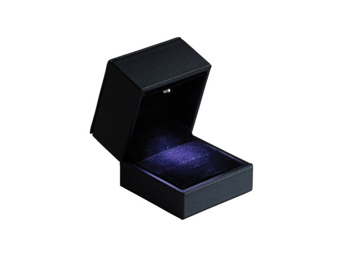 Small Black LED Lighted Ring Box