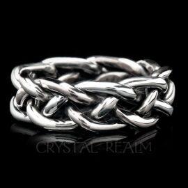 braided wedding rings 13ga palladium