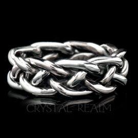 braided wedding rings sterling silver 13