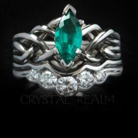 Gemstone Engagement Puzzle Rings & Bridal Sets