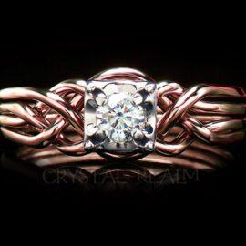 diamond engagement rings puzzle pt25ct rg 1