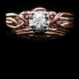 Moissanite & Lab-Created Gemstone Engagement Rings and Bridal Sets