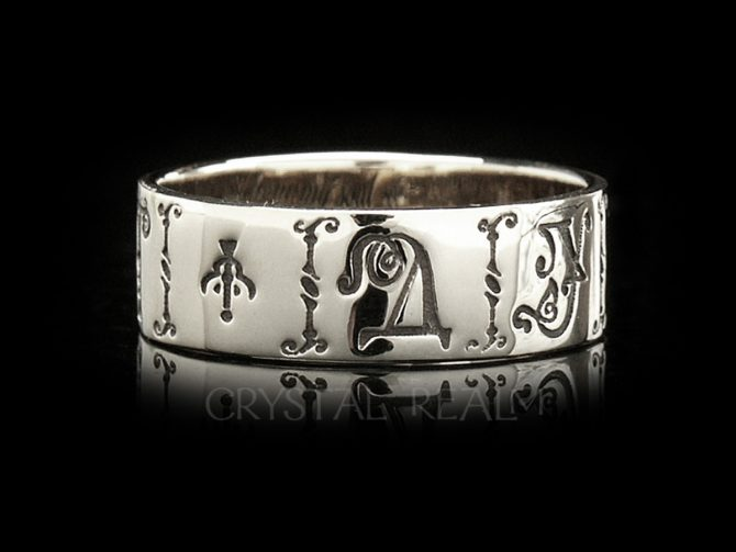 From My Soul, Contemporary Russian Posy Ring, 14K White Gold