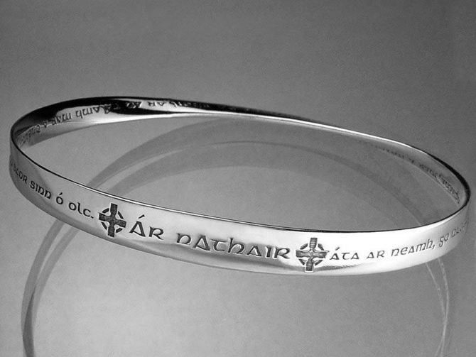 'Our Father in Heaven' Gaelic Lord's Prayer Bracelet