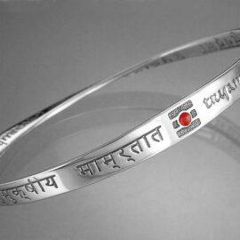 healing mantra sterling silver and enamel bracelet