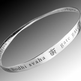 heart sutra mantra bracelet