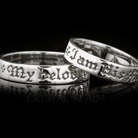 i am his i am hers poesy ring rt001r 2r 14k white gold