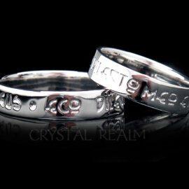 latin beloved poesy ring platinum st085r