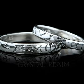love conquers all poesy ring