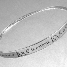 love is patient corinthians bracelet fc09b