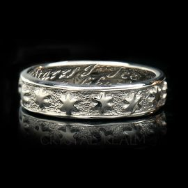 many are thee starrs i see poesy ring br027r 14k wg na