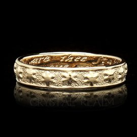 many are thee starrs i see poesy ring br027r 14k yg na