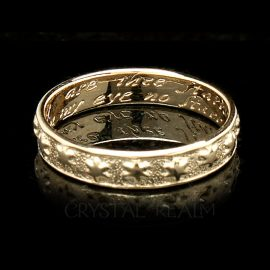 many are thee starrs i see poesy ring br027r 14k yg na2