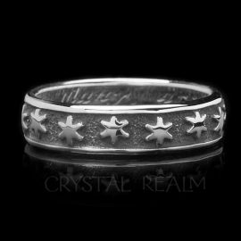 many are thee starrs i see poesy ring sterling silver br027r