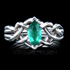 marquise emerald puzzle engagement ring pt75ct 1