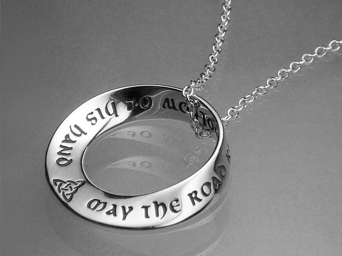 May the Road Rise to Meet You - Sterling Silver Necklace