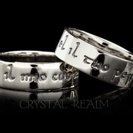 my heart is yours forever italian poesy ring st140r 14k wg
