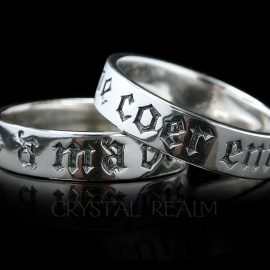 sterling silver poesy ring with the words in french you have my whole heart for my whole life
