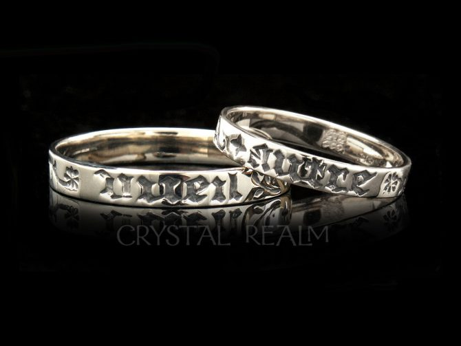 No One but You, Traditional French Posy Ring, 14K White Gold