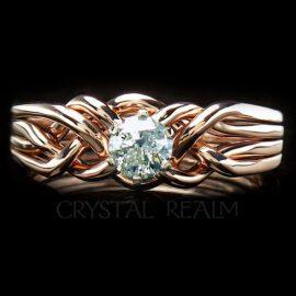 puzzle engagement ring 14k rg pt50diamond 15 1
