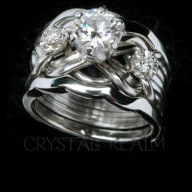 Engagement Puzzle Ring Bridal Sets