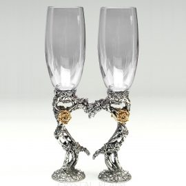 rose heart toasting glasses ko87 clear 1