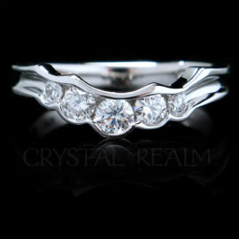 Puzzle Ring Shadow Wedding Bands