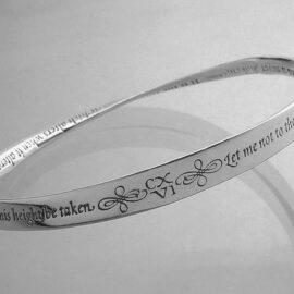shakespeares sonnet sterling silver mobius strip bracelet