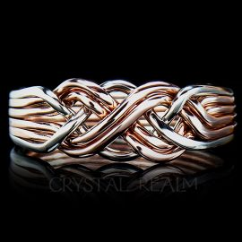 six band puzzle ring pairs in x 14k rg wg 1