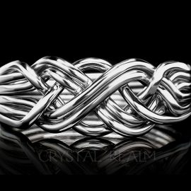 six band puzzle ring pairs in x white
