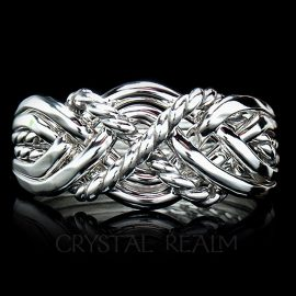 six band puzzle ring twisted x heavy weight 1