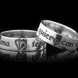 spanish i love you poesy sterling silver ring ps01r