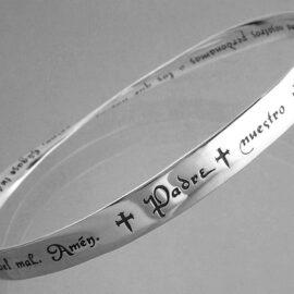 spanish lords prayer bracelet sterling silver fc14b