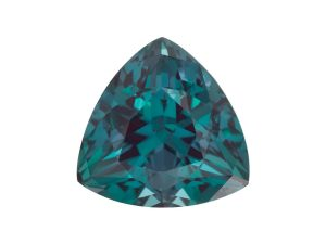 This is the teal color change from purple in our alexandrite, whether genuine or lab-created