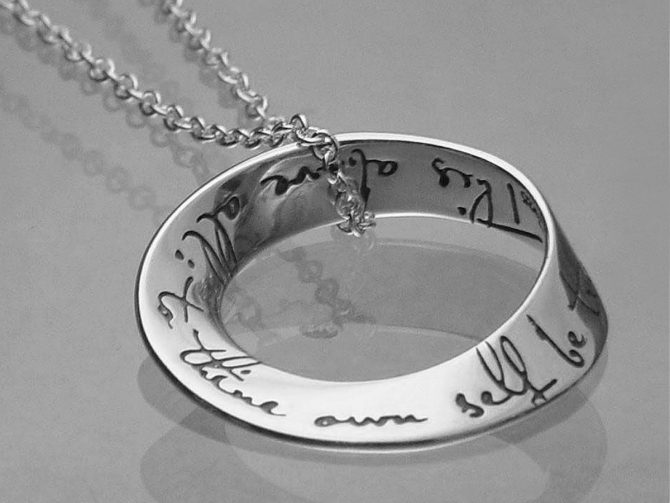 'To Thine Own Self be True' Sterling Silver Posy Necklace