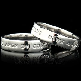 two souls one heart platinum poesy ring st156r