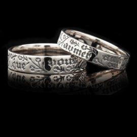 Posy Rings - 14K White Gold