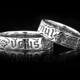 you and no other french poesy ring sterling silver va006r