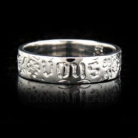 you and no other french poesy ring va006r 14k plat