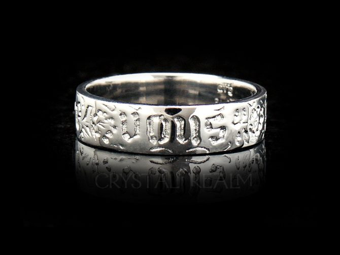 You and No Other, Traditional French Posy Ring, Platinum